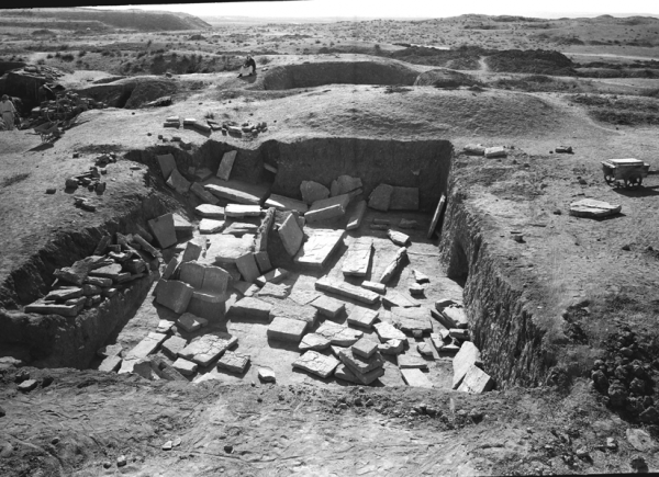 Trench where the deposit of nearly 120 reliefs from the time of Tiglath-pileser III was discovered