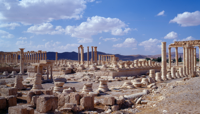 Palmyra, View of the agora