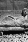 A relief from the tomb of Zabda, son of Moqimo, depicting the deceased owner of the grave lying on a bed in a pose characteristic for a reveler, middle of the 2nd century AD.