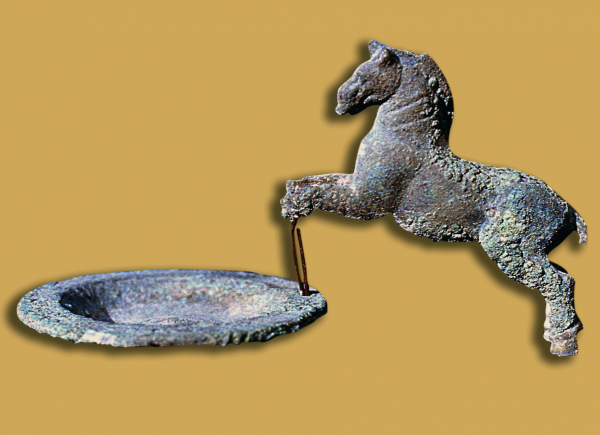 Bronze censer with a horse-shaped handle, Parthian period (Photo A. Reiche)