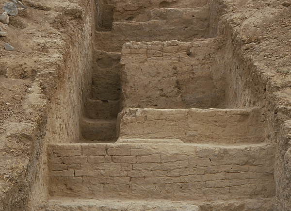 Tell Abu Hafur. Stepped trench on the northern slope of the tell.