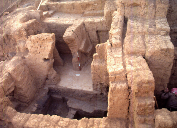 View of the remains from Layer II dated to the Early Dynastic period (3rd millennium BC).