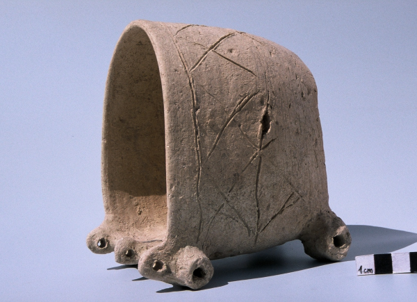 Terracotta model of a four-wheeled cart (second half of the 3rd millennium BC).
