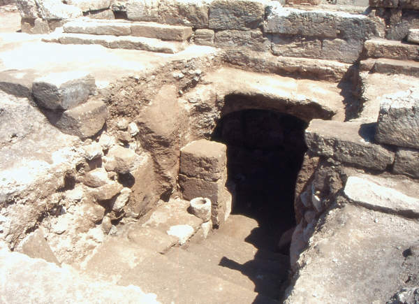Entrance to the cave where the mithraeum was discovered was concealed under the floor of the church.